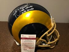 MARSHALL FAULK Autograph Signed Auto Full Size PROLINE St Louis Rams Helmet JSA