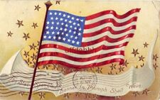 THE STAR SPANGLED BANNER IN TRIUMPH SHALL WAVE embossed 1908 International Art