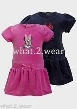 BNWT Girls Baby Kids Minnie Mouse Velvet Party Dress Bow Summer Gift