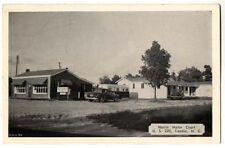 1949 CANDOR NC Harris Motor Court Travel Trailer nr Pinehurst postcard