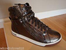 """NIB Women MICHAEL Michael Kors® """"Glam"""" Stud High Top Sneaker GUNMETAL 6"""