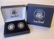 Collectible High-Quality Donald Trump Presidential Cufflinks, Double Gift Boxed