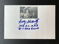 Bobby Shantz Signed New York Yankees 4x6 Index Card A's Auto Autograph