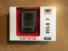 Cateye Velo 7, Bicycle 7 Function Computer, Wired, Grey/Black. New°