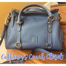 Dooney & Bourke Small Leather Dusty Blue Satchel Bag NWT Rare