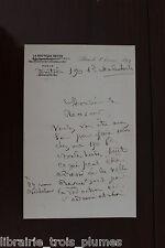 ✒ LA.S. Juliette ADAM écrivain féministe à un receveur des postes 1897