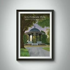 More details for southwark park london travel poster - framed - vintage - bucket list prints