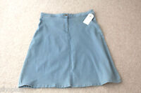 M&S Collection Sizes 10 16 Bleached Denim A-line Knee Length Skirt with Stretch