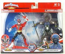Power Rangers Mega Collection Samurai Red Ranger Fire & Villain Ninja New Gift