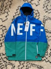 NEFF Blue Green Softshell 10K Ski Snowboard Jacket Men's XL NEW with Tags