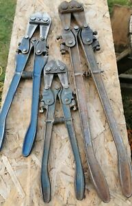 3 Pairs Of Vintage Record Bolt Cutters For Spares Or Repairs( No 614,918,601)