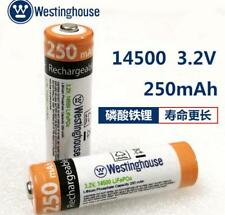 Wholesale!10pc 3.2V Westinghouse 14500 AA 250mAh Lifepo4 battery