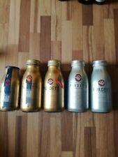Energy drink Flaschen Auflösung Voll Leer collector Empty Glas bottle Purdeys