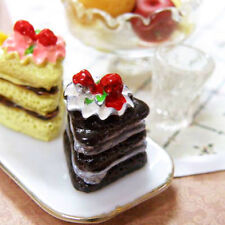8 Pcs/set Dollhouse Miniature Cakes Assorted Chocolate Strawberry Cakes Toy Gift
