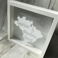 PERSONALISED ADVENTURE Fund MONEY BOX Frame, Present Gift, Love HOLIDAY TRAVEL