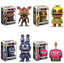 Funko Pop! Games FNAF Nightmare Bonnie, Chica, Foxy & Cupcake Set Preorder
