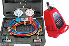 AIR CONDITIONING AUTOMOTIVE GAUGE AC A/C R134 VACUUM PUMP CHARGING COMPLETE SET