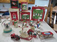 Lot  of Hallmark Ornaments Snowmen-Mitford, Cool Friends Millennium Snowma'am