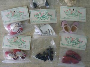 Vtg Imsco Doll Shoe Lot-Leather Vinyl Mary Jane Tri-Stepper Tennis Boot (8) pair