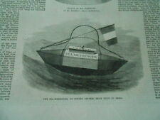 The sea-messenger to convey letters from ships in peril Antique Print 1870