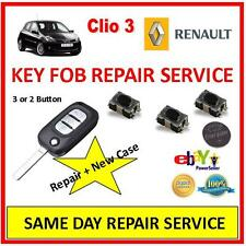 Renault Clio 3 . Remote Key Fob Repair Service ++ New Case !!  Same Day Repair