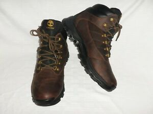 Timberland Rangeley Mid Hiking Boots Shoes Dark Brown Leather 9810R Sz: Men's 10