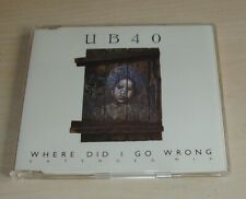 UB40 Where Did I Go Wrong Extended Mix CD Single 1988 4trk