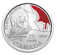 🇨🇦 New Canada 25 cents quarter UNC coin, Kermode Bear Fishing Salmon, BU, 2020