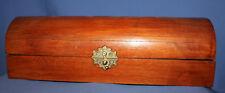 Wood Trinket Box Chest with brass lock