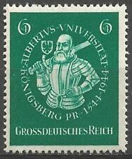 Germany (Third Reich) 1944 MNH - 400th Annivers Albertus University Koenigsberg
