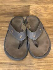 OLUKAI OHANA Flip Flop Sandals U.S. Size 15 Brown 10110A -4827 Mens