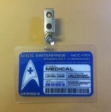 Star Trek Id Badge -Starfleet Command Medical Lt. Commander cosplay prop