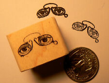 P24 Miniature Spectacles, glasses, rubber stamp