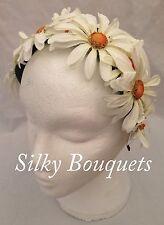 Artificial Silk Flower Daisy Hairband Fascinator Festival Headband Garland Hippy
