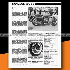★ SANGLAS 500 S2 ★ 1980 Essai Moto / Original Road Test #a412