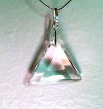 John of God Blessed & Energized Clear Quartz Crystal Triangle Pendant