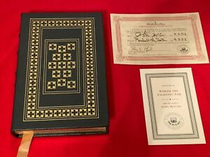 2002 Easton Press Signed First Edition Worth The Fighting For by JOHN McCAIN COA