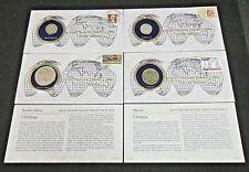 (4) World Silver Coins South Africa,Australia Great Britain & Macau (5695)