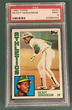 1984 Topps 230 Rickey Henderson PSA 9 MINT!! HOF Hall of Fame