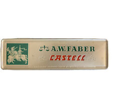 A.W. Faber Castell Pencils in tin case 9000 2H set of 6 New Old Stock