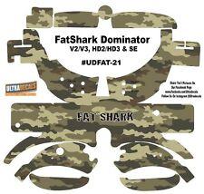 FatShark Dominator V2 V3 HD2 HD3 Skin Wrap Decal Fat Shark Army Camouflage