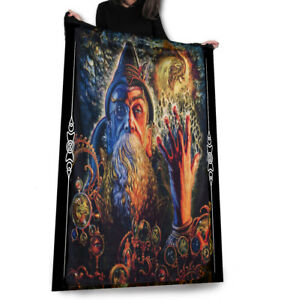 Wild Star - MERLIN'S Visions - Fleece Decke /Überwurf/Wandbehang