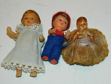 ancien vintage LOT 3 MINI POUPEE bébé D.P. Germany & italy DOLL puppe COLLECTION