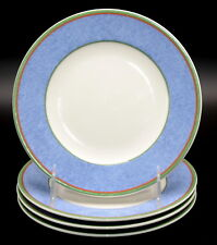 Villeroy & Boch Tipo Viva * 4 BREAD & BUTTER PLATES * Blue Red Green Bands, EXC