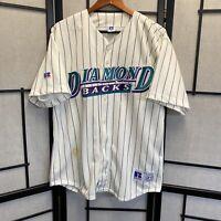 VTG 90's 1998 MLB Arizona Diamondbacks Russell Athletic Jersey XL RARE Stained
