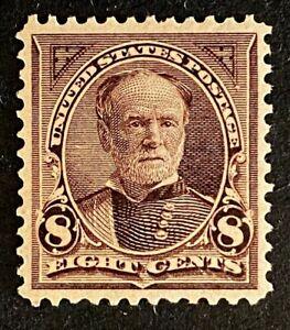 US Stamps, Scott #272 1895 8c Sherman 1999 & 2019 PF Certs M/NH. PO fresh CHOICE