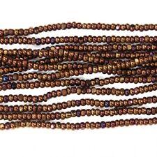 13/0 Metallic Copper Charlotte Cut Seed Bead (Hank) #CSS047