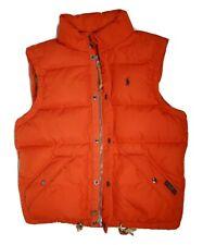 Polo Ralph Lauren Elmwood Down Feathers Puffer Vest - Orange - Was $245 @ Macy's