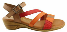 Buckle Leather Casual Multi-Colored Shoes for Women