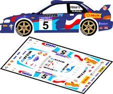 DECALS 1/43 SUBARU IMPREZA WRC  #5 - HOLOWCZYC - RALLYE BARBORKA 2000 - D43054